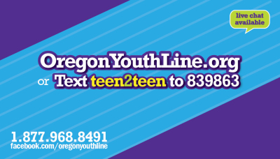YouthLine is a free, confidential teen-to-teen crisis and help line. No problem is too big or too small for the YouthLine!